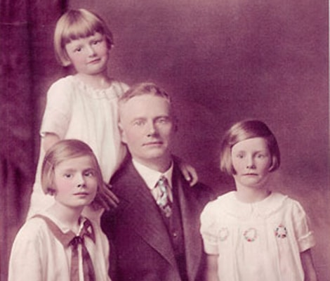 Our founder Ralph Gorrill, with his three daughters